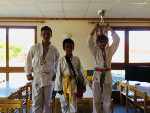 Podium coupe du stage kids stage karate