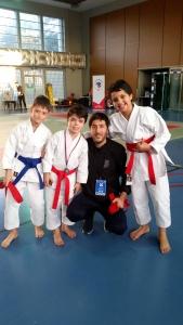 Equipe Kata benjamins Karaté enfant