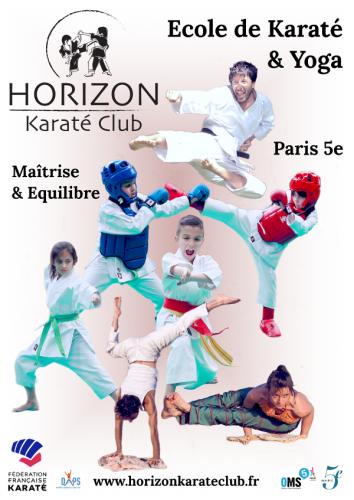 Affiche Karaté et Yoga Paris 5e