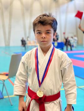 Gabriel champion Kata Coupe Elite Karaté Shotokan