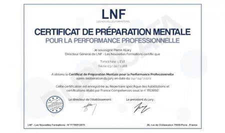 Notre directeur technique certifié préparateur mental pour la performance professionnelle